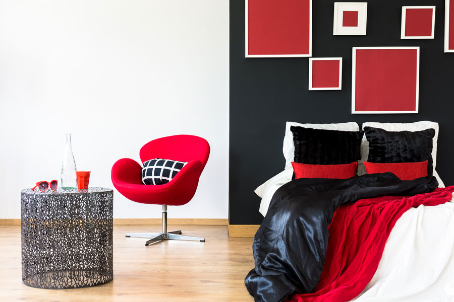 Red And Grey Bedroom Design Decor Ideas Red And Gray Bed Wall